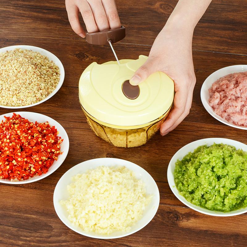 捣蒜蓉手动打切绞大蒜头压蒜碎机蒜泥搅蒜器家用拉臼子厨房神器