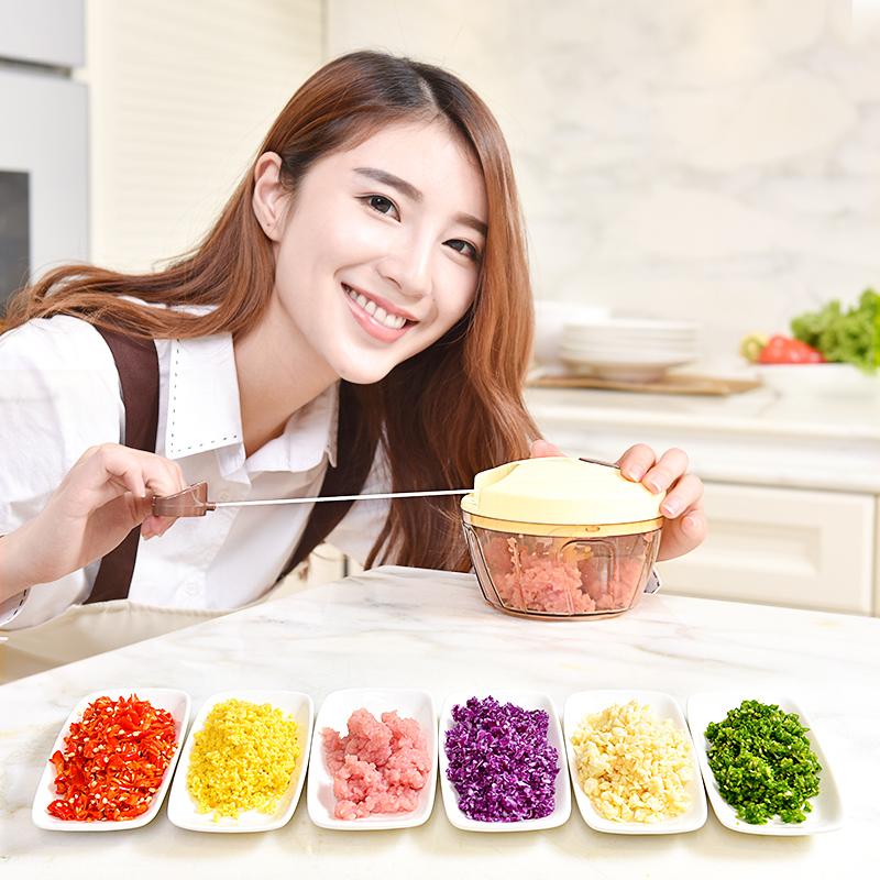 家用手动绞肉机搅拌器绞蒜饺子馅碎菜拉切辣椒料理机绞肉神器小型
