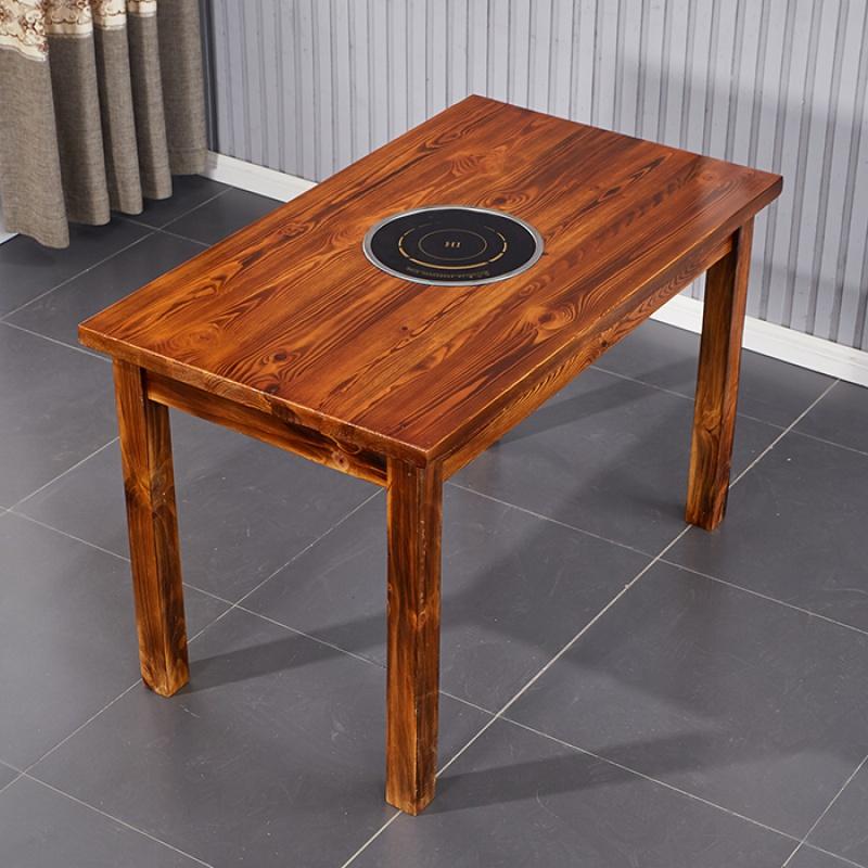店桌椅组合商用长方形