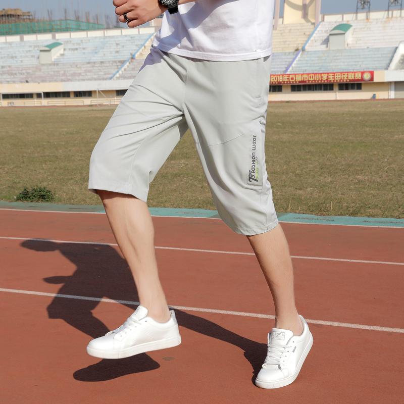 夏季运动短裤男薄款男士休闲裤子七分裤宽松速干裤跑步透气7分裤6