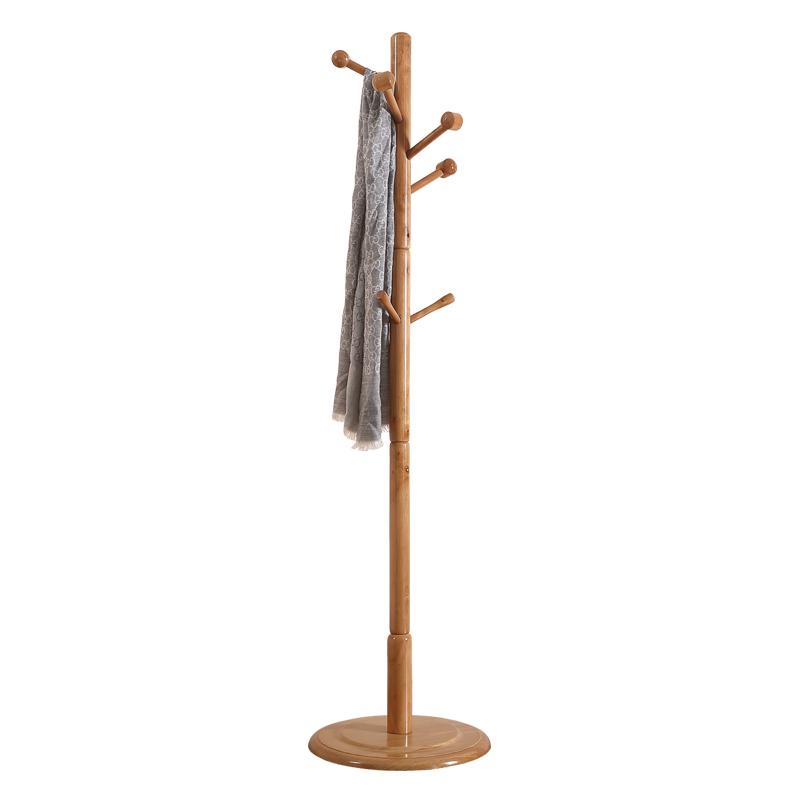 宏蕾简约橡木落地衣帽架时尚创意衣架卧室衣服架子衣帽置物架收纳