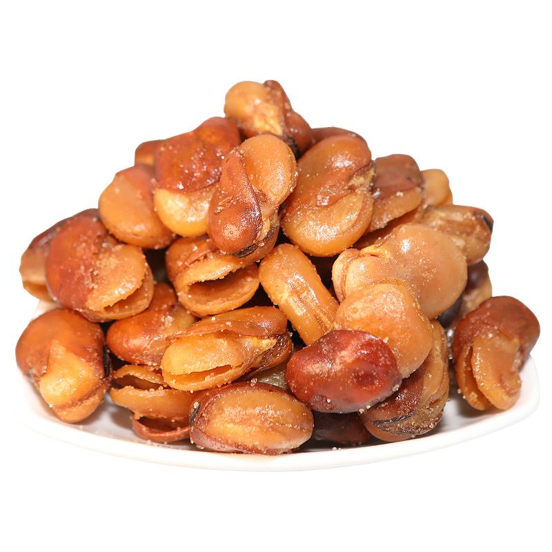 油炸香酥馋豆香辣兰花豆牛肉味蚕豆零食小包装4斤散装一斤装麻辣