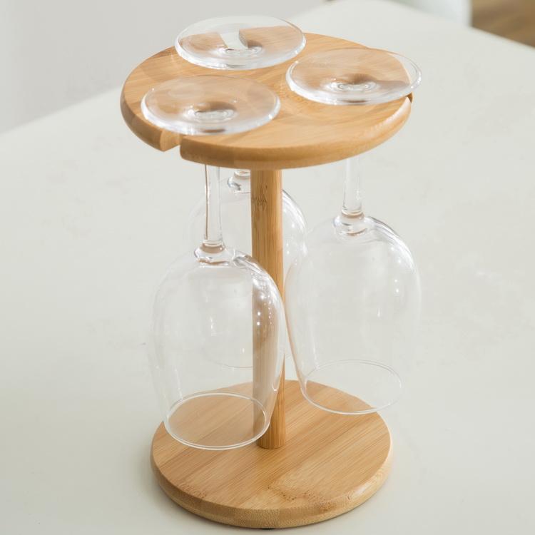 楠竹木红酒架酒瓶摆件酒瓶架杯架倒挂酒柜葡萄酒杯架悬挂现代简约