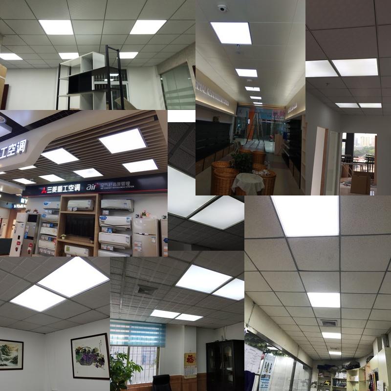 矿棉板工程灯具 60x60 面板灯石膏板 600x600 平板灯 LED 集成吊顶