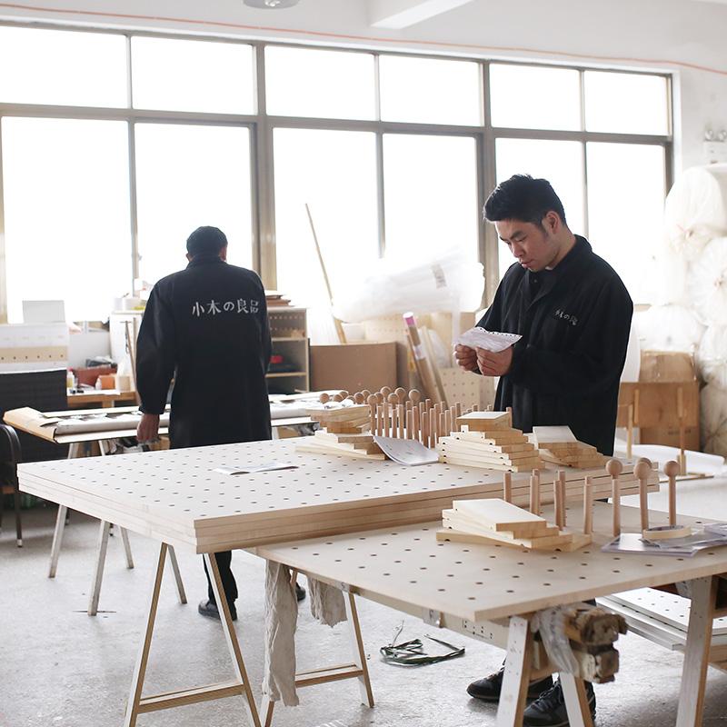 洞洞板定制木质北欧展示收纳厨房实木装饰墙壁墙上一字隔板置物架