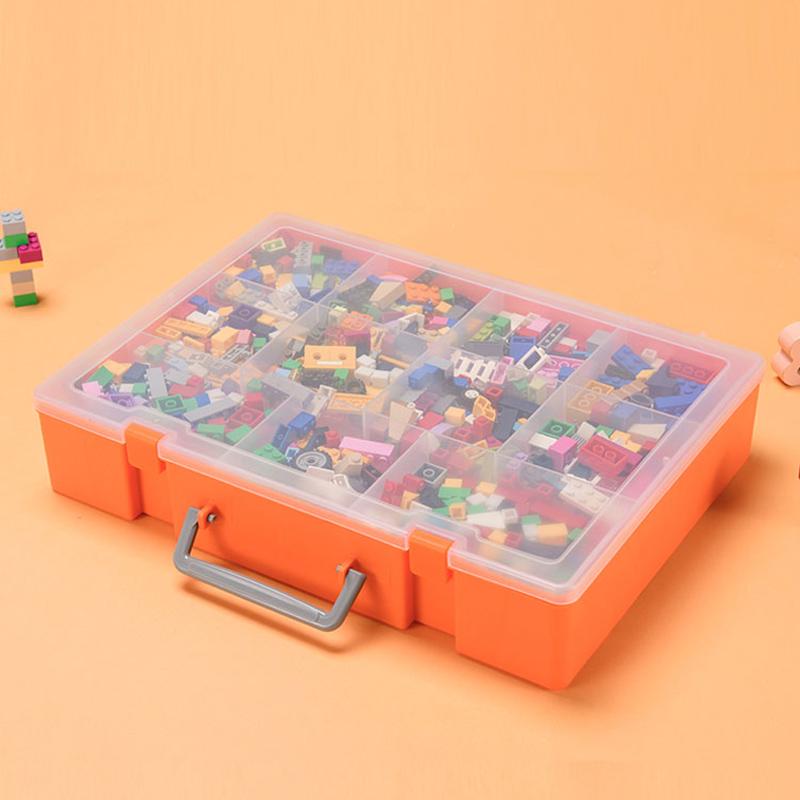 樂高收納盒積木分類盒子裝玩具小顆粒零件分格透明分裝儲物整理箱