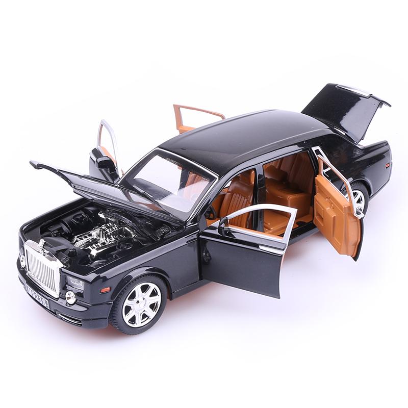 劳斯莱斯合金车模幻影仿真汽车模型成人收藏摆件儿童回力玩具车