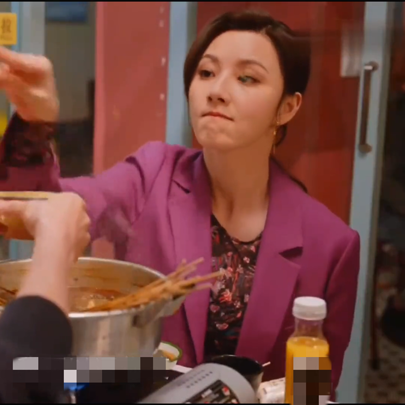 亲爱的自己顾晓菱陈米麒同款衣服女秋季新款紫色宽松西装外套上衣