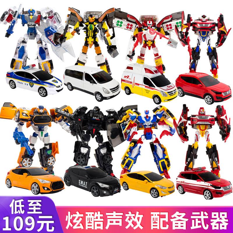 咔卡宝咖宝车神王牌车手儿童变形机器人汽车玩具大全男孩阿哈包伽