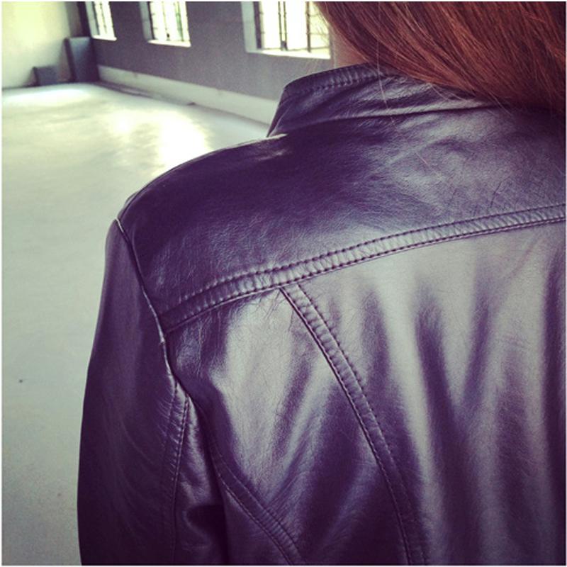 2019春装新款韩版短款女装PU女士大码皮衣修身机车夹克外套小皮