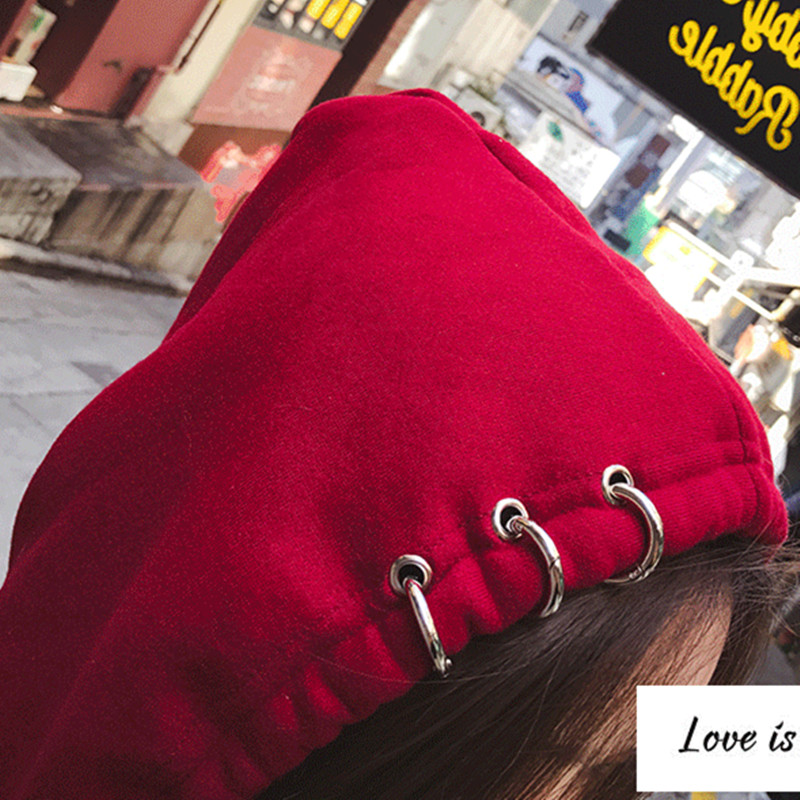 2017春秋季新款韩版潮假两件带帽子卫衣女连帽套头BF学院风连衣裙