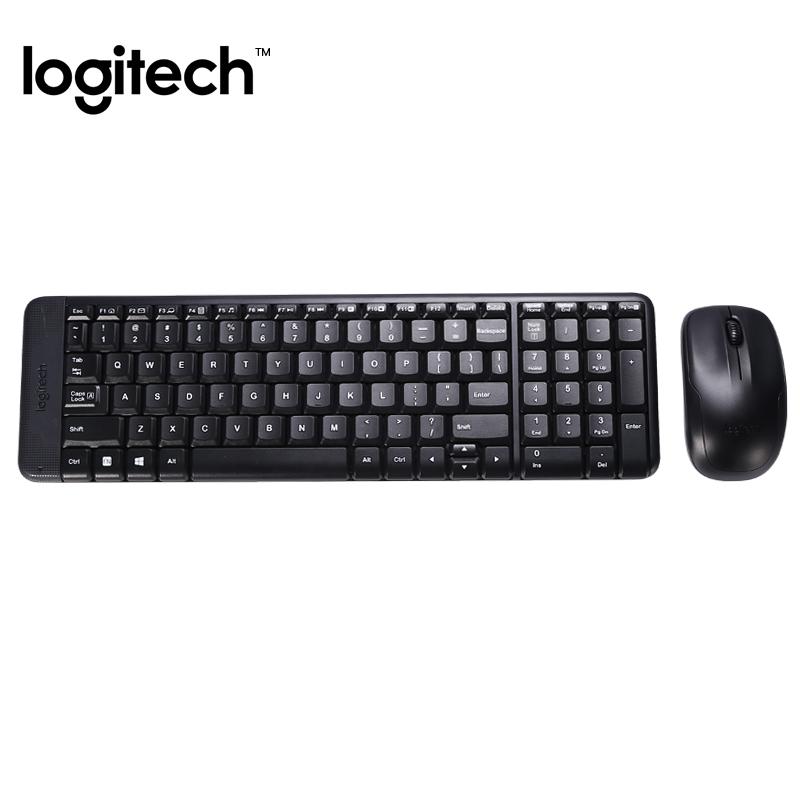 【官方专卖店】罗技MK220无线键鼠套装 USB鼠标笔记本电脑办公家用商务小巧男生女生无线键盘鼠标套装