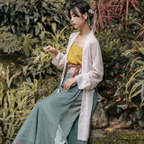 Hua Xiaoru / Song Shanbai / Original Hanfu Song-made Han elements Song pants three-piece suit long suspenders suspenders female summer