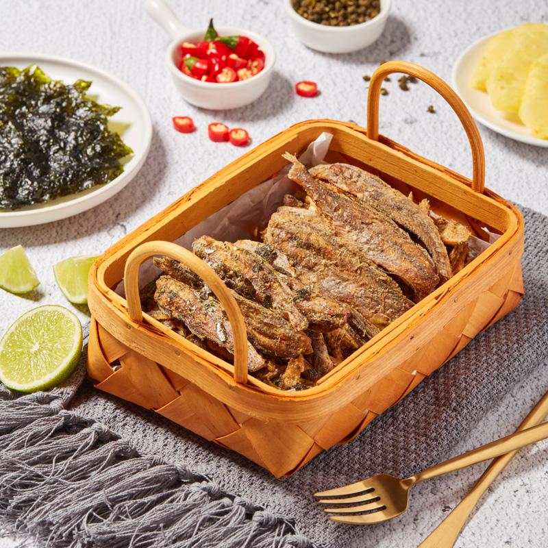 薄荷健康EasyFun高蛋白小酥鱼干海味零食非油炸非烘烤小鱼仔4袋