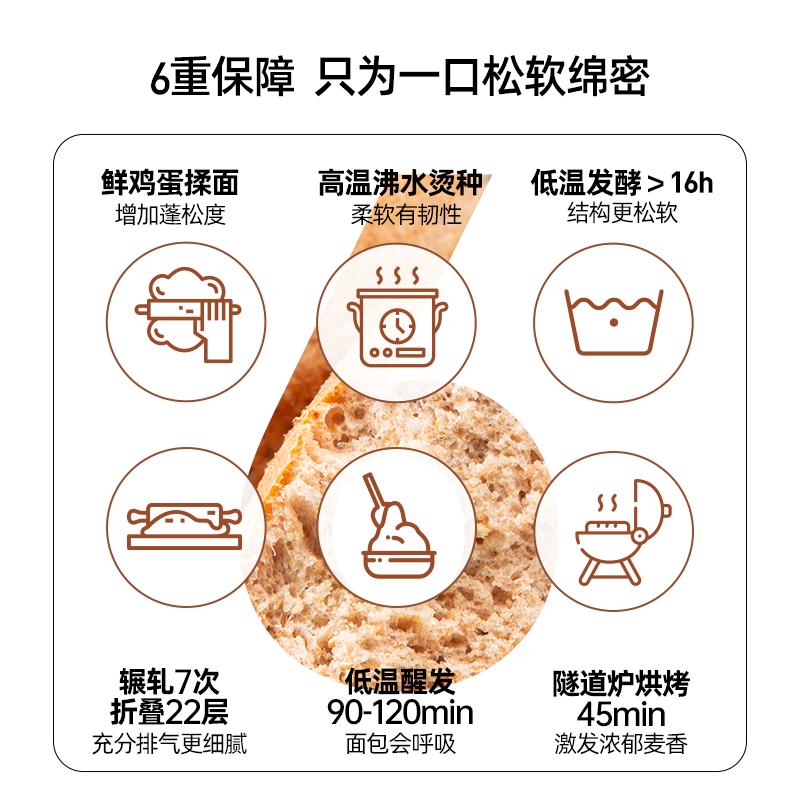 薄荷健康 欧包低脂全麦面包无蔗糖轻卡饱腹粗粮早餐健身代餐零食 No.3