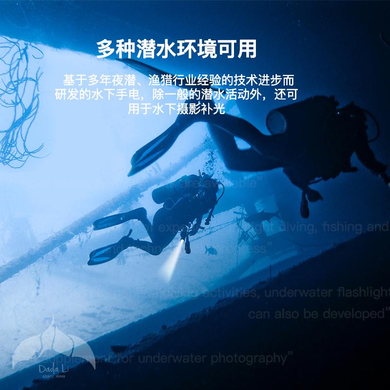 潜水夜潜渔猎实用手电筒 LED 水下手电筒 C4 意大利进口 好物推荐