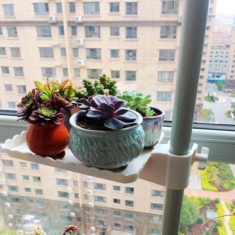 窗台花架子多肉花盆架室内飘窗多层省空间