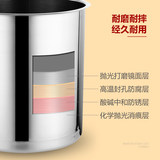 Electronic Warm Soup Pot Commercial 304 Stainless Steel Liner Insulation Pot Soup Furnace Hotel Buffet Tableware Electric Porridge Pot