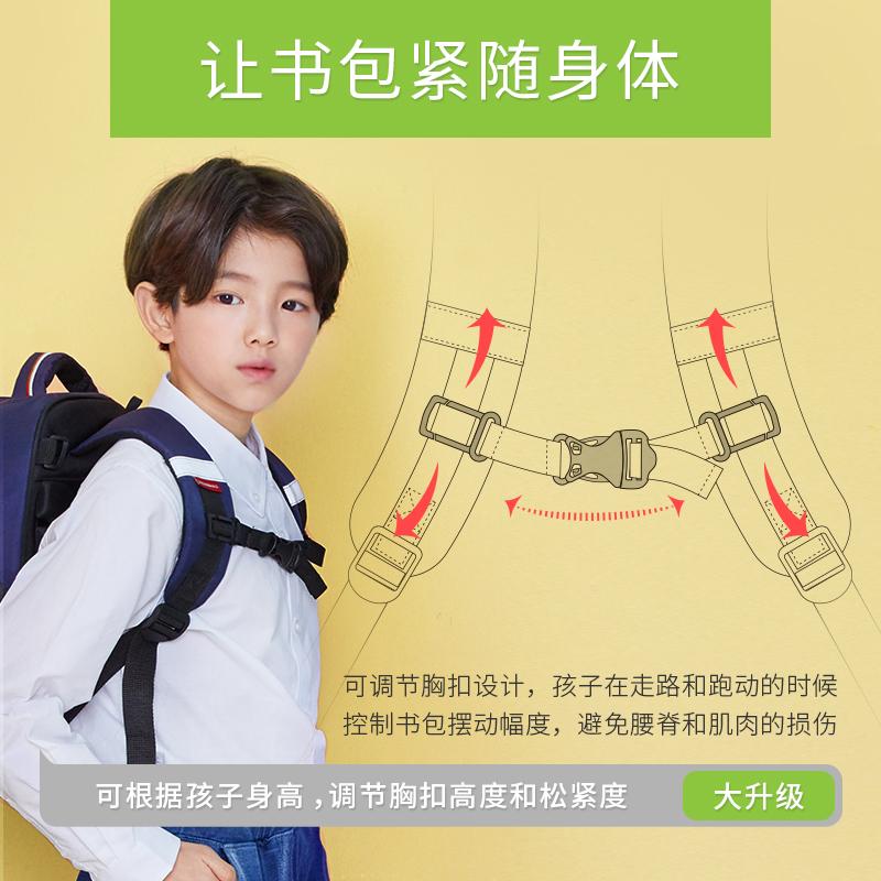 2019新款减负护脊椎书包小学生男童女-3一二年级减压儿童双肩包潮