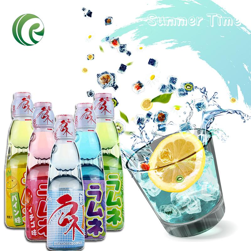 包邮日本波子汽水原装进口弹珠汽水哈达水果味汽水碳酸饮料组合装