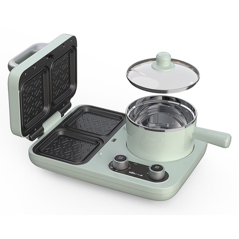 小熊三明治机早餐机多功能家用小型烤面包机吐司机四合一多士炉主图