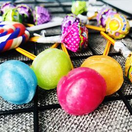 泰国进口40支装迷你多种水果味棒棒糖200g创意儿童糖果休闲零食