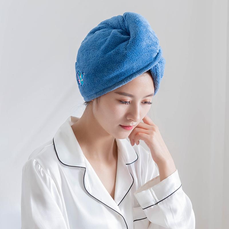 韩国干发帽女超强吸水速干可爱卡通速干帽吸干头发发帽洗头发帽子 - 图1