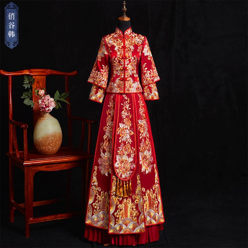 秀禾服2019新款秀禾服龙凤褂婚礼服显瘦新娘结婚出阁服中式新娘服