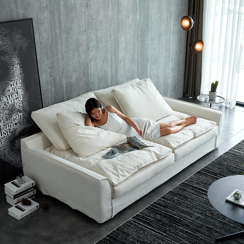 乳胶懒双人科技布沙发