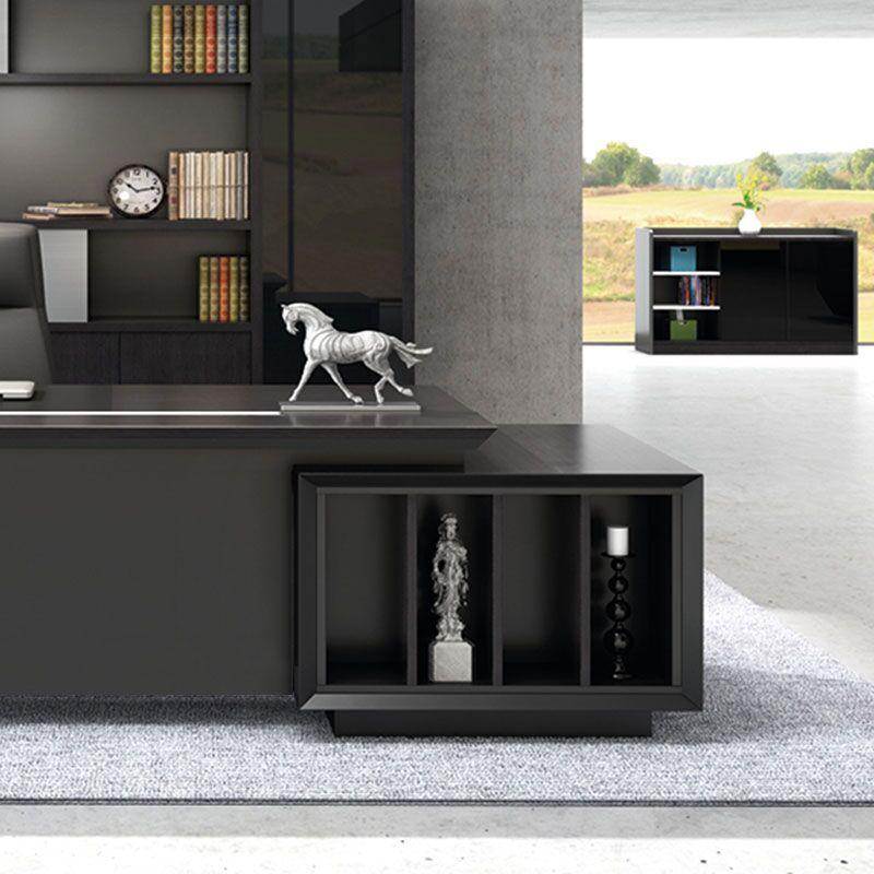 苏美特新款简约现代大气老板桌办公桌大班台总裁主管桌电脑桌书柜