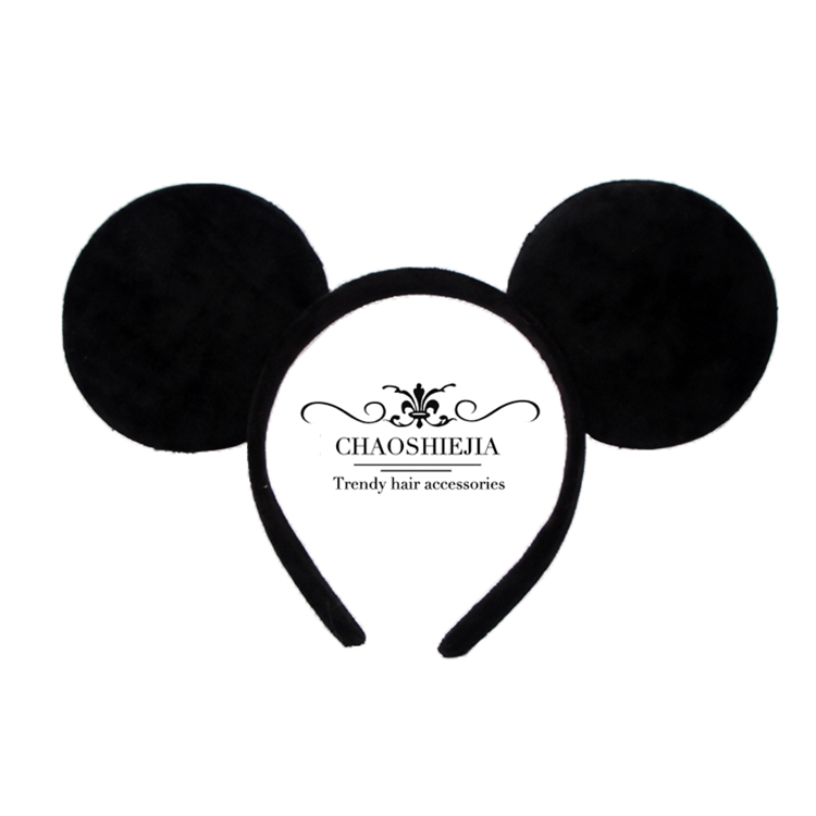 米奇耳朵发箍迪士尼甜美可爱头饰男女情侣发卡老鼠耳朵表演头饰
