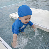 Lin Lin baby boy clothes baby swimwear baby summer swimming clothes suit boys swim trunks children swimming cap