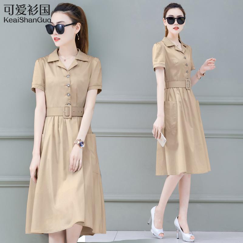 很仙的法国小众连衣裙夏装2020新款女装夏季流行收腰中长款裙子潮