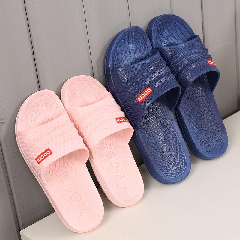 材料托鞋 PVC 卡居旺夏季男女拖鞋居家酒店宾馆澡堂浴场防滑软厚底
