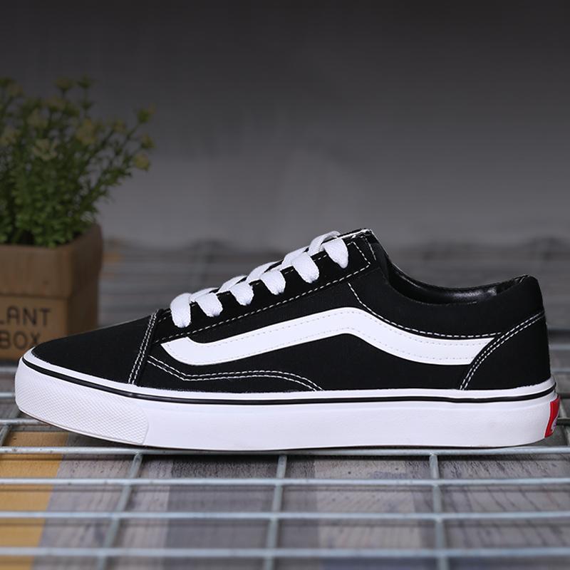 黑白经典低帮板鞋男鞋女鞋帆布休闲滑板鞋常青款运动鞋