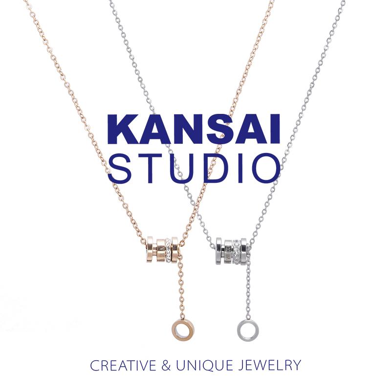 KANSAI罗马数字转运钛钢项链锁骨链气质百搭小众设计短链女吊坠