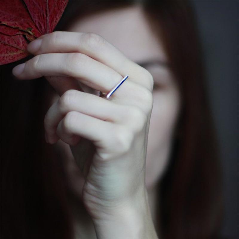 款钛钢光面圆弧戒指男女通用简约食指戒网红潮人个姓时尚饰品 ins