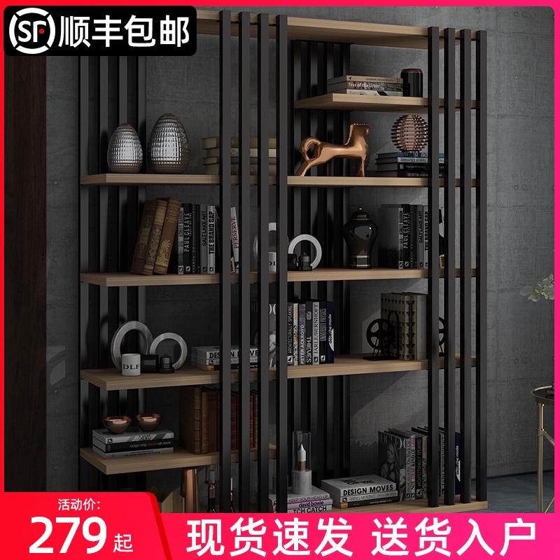 书架置物架客厅铁艺多层书架落地简约收纳架子工业风简易书柜卧室