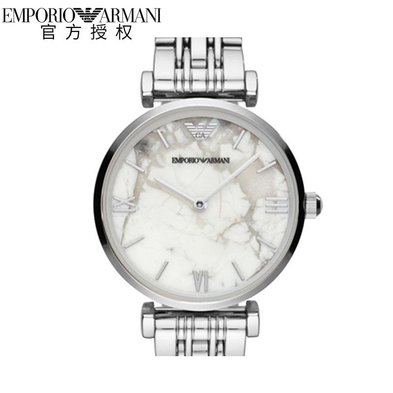 Armani阿玛尼手表女做旧款 休闲简约商务石英表钢带女表AR11170