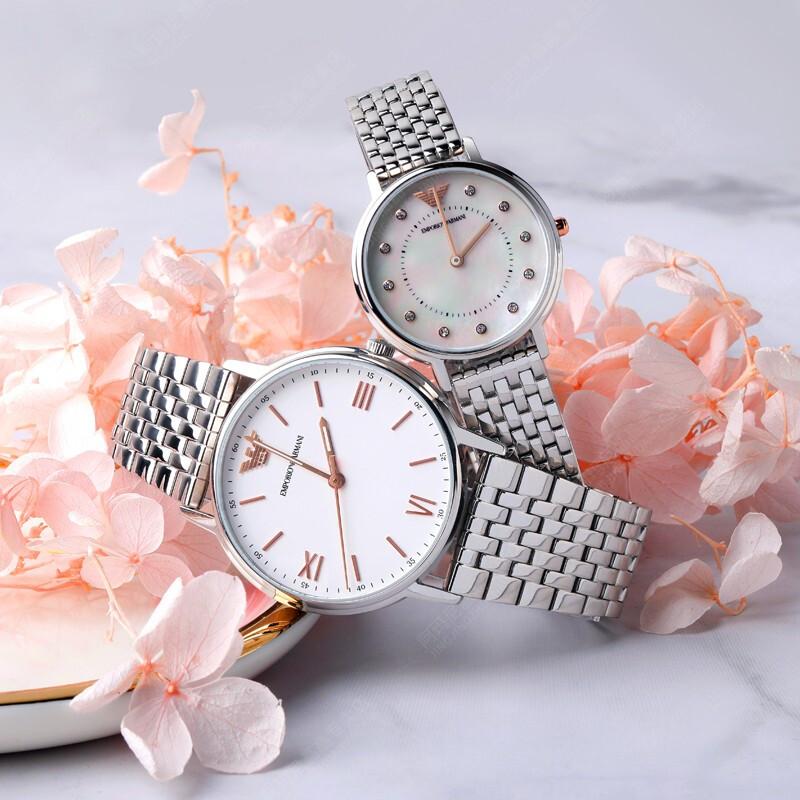 Armani 阿玛尼情侣手表 欧美时尚潮流石英机械腕表 AR80014 正品