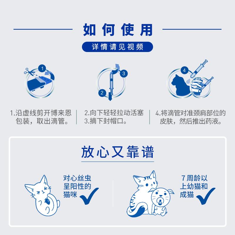 博来恩猫咪体外驱虫药博莱恩福来恩宠物猫用体内外一体驱虫滴剂【图3】