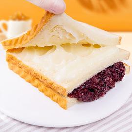 圣地莱紫米面包奶酪夹心三明治黑米吐司蛋糕充饥夜宵零食品整箱