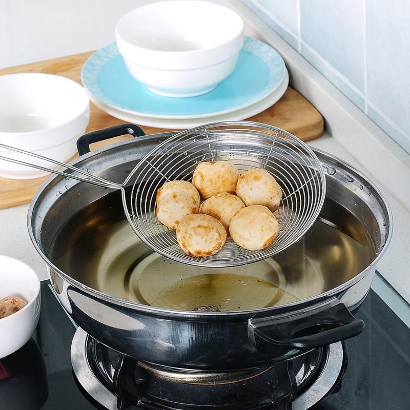 不锈钢捞面小大号漏勺过滤网笊篱漏网过滤网筛厨房家用捞饺子滤勺