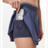 Autumn and winter nude feeling bottoming anti-empty pocket fitness dance yoga short skirt sports culottes pleated tennis culottes women