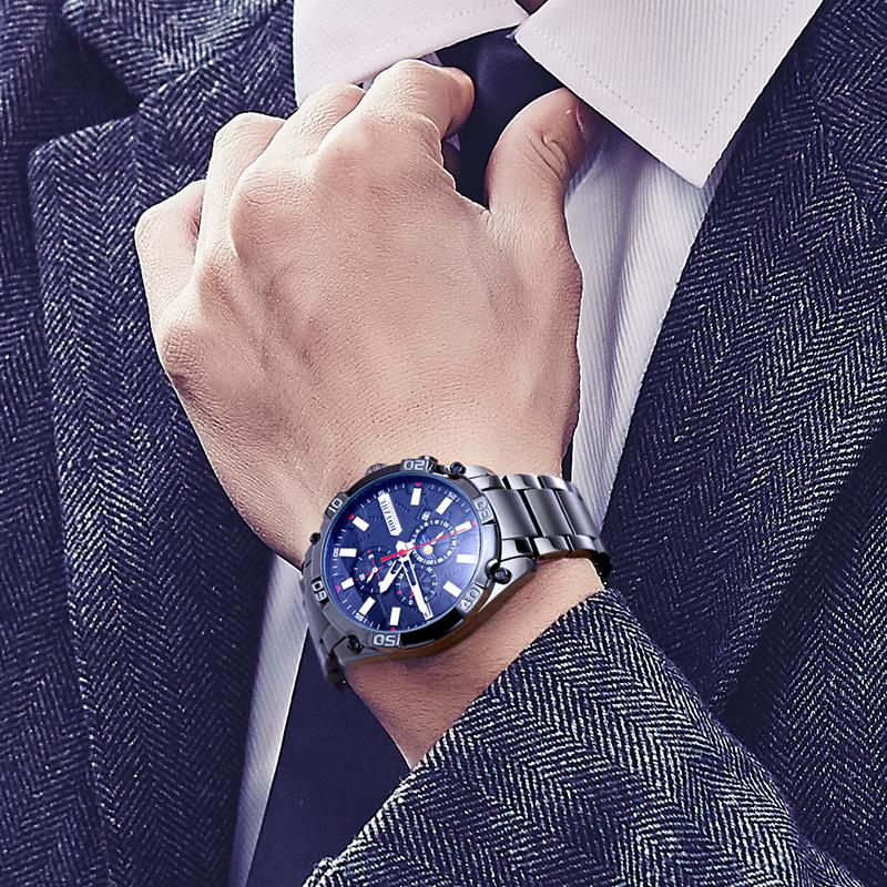 2020 新款正品 手表男机械表全自动大表盘多功能特种兵防水男士手表