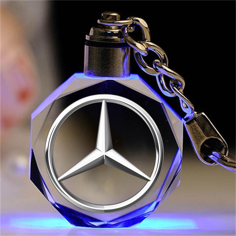 汽車標誌水晶鑰匙扣掛件賓士寶馬大眾哈弗吉利法拉利奧迪本田賓利