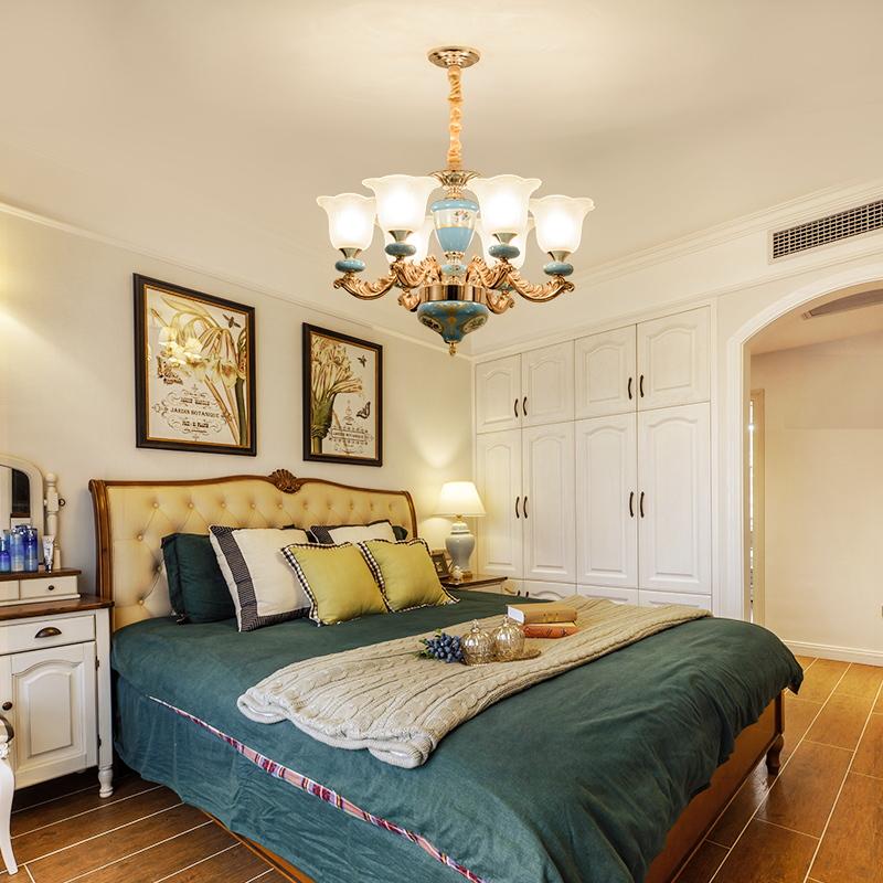 客厅灯美式新中式欧式大气奢华灯具现代简约灯饰套装组合新款吊灯