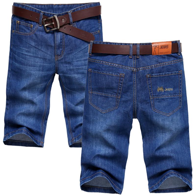 薄款牛仔裤休闲马裤宽松5分裤子男士牛仔短裤男夏季五分七分中裤