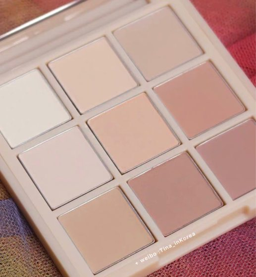 South Korea 3CE 2020 Spring New Matte Naked Color Series Nine Palace Eyeshadow Plate Daily Natural #DEAR NUDE