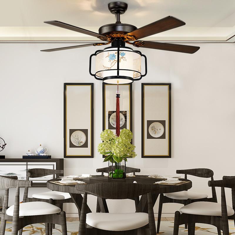 灯客厅餐厅茶楼吊扇灯带灯电扇